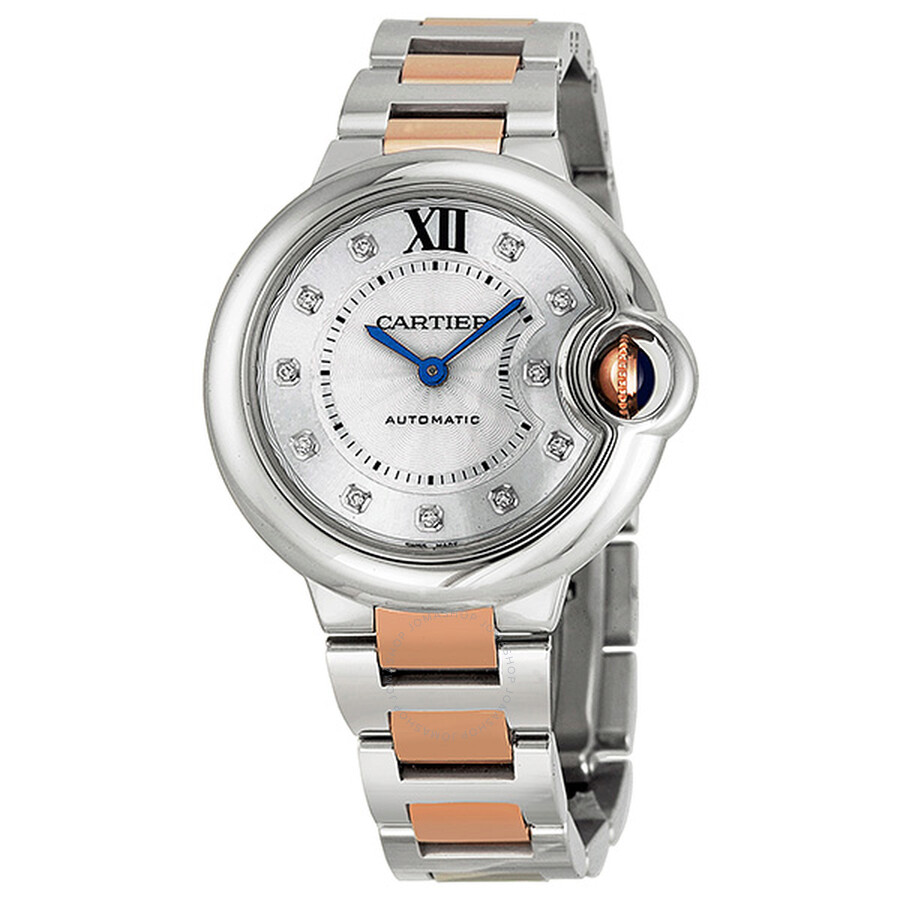 e38538d476fb Cartier Ballon Bleu Automatic Diamond Rose Gold and Stainless Steel Ladies  Watch WE902044 ...