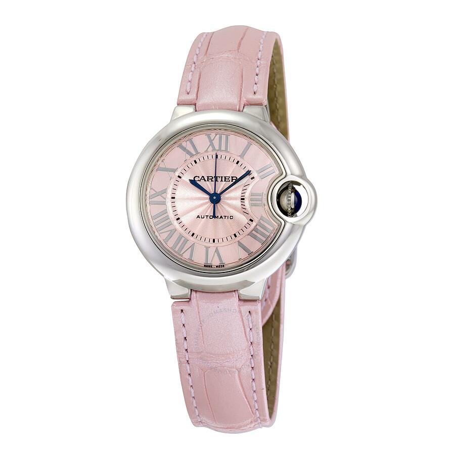 Cartier Ballon Bleu Automatic Pink Dial Ladies Watch WSBB0002 ... d750550c4