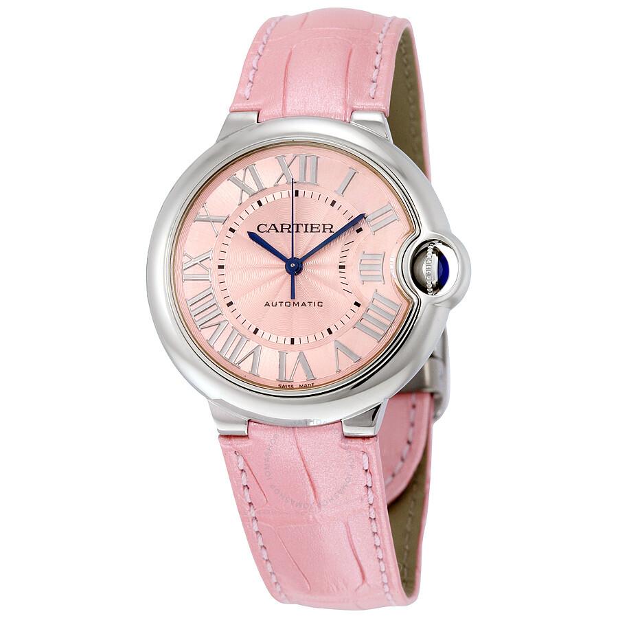 Cartier Ballon Bleu Automatic Pink Dial Ladies Watch WSBB0007 ... 0d6846a07