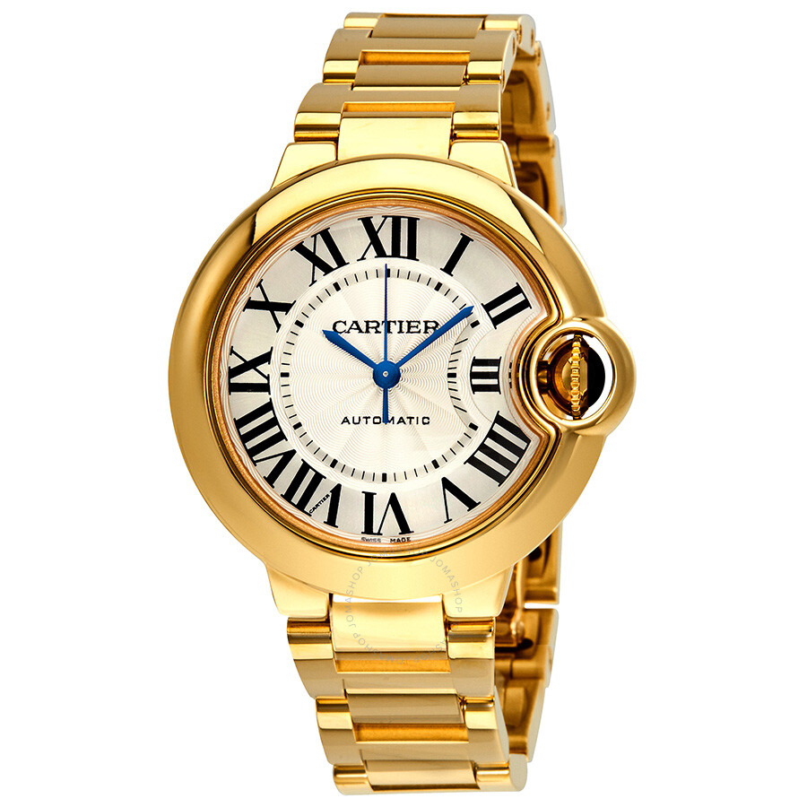 530b54c57a053 Cartier Ballon Bleu de Cartier 18k Yellow Gold Silvered Opaline Dial Ladies  Watch WGBB0005 ...