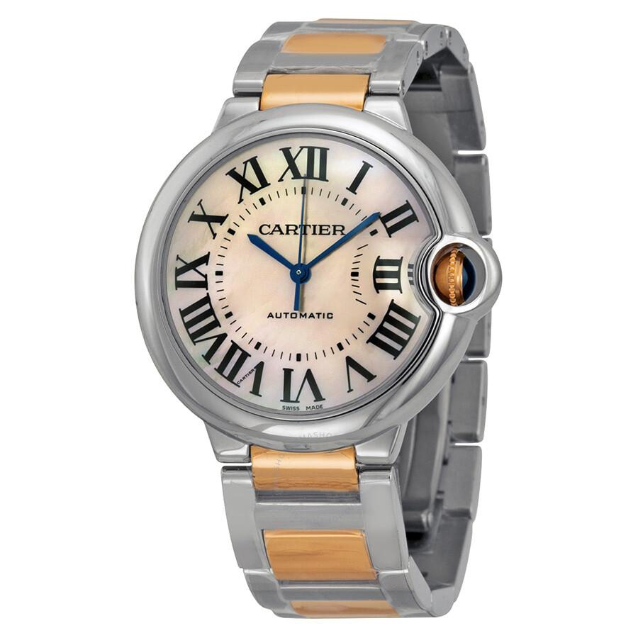a1a098b635a Cartier Ballon Bleu de Cartier Gold and Steel Medium Watch W6920033 ...