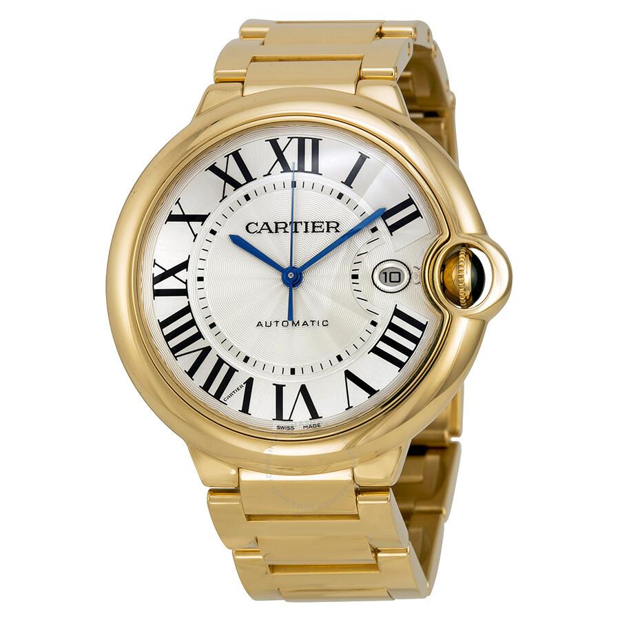 Cartier Ballon Bleu Large 18k Yellow Gold Men's Watch ...