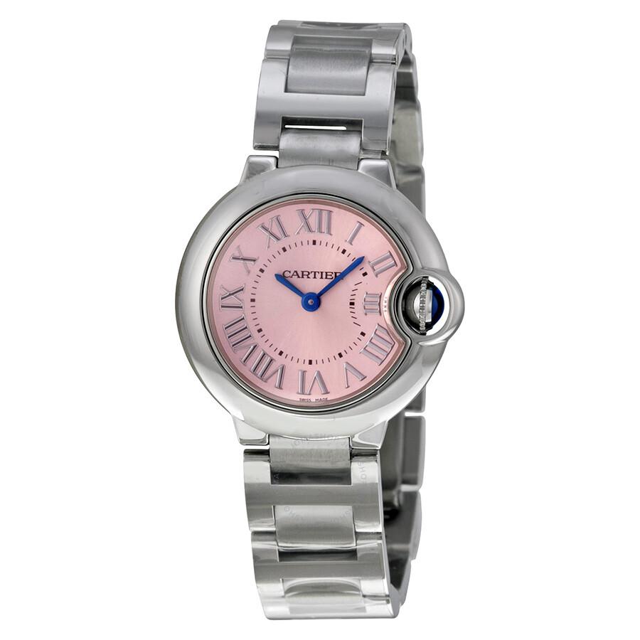 Cartier Ballon Bleu Pink Dial Stainless Steel Ladies Watch W6920038 ... cdd1f39c5