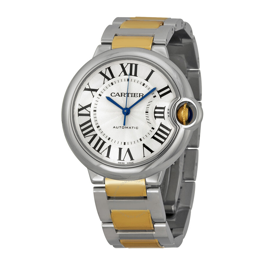 ef712849af88a Cartier Ballon Bleu Automatic Silver Dial Unisex Watch W2BB0012 ...