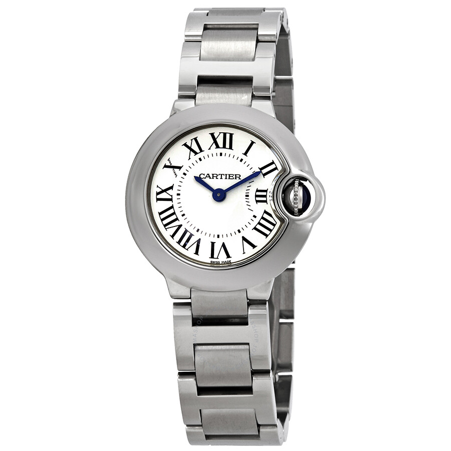 2ebfbb24b958 Cartier Ballon Bleu Silver Dial Stainless Steel Ladies Watch W69010Z4 ...
