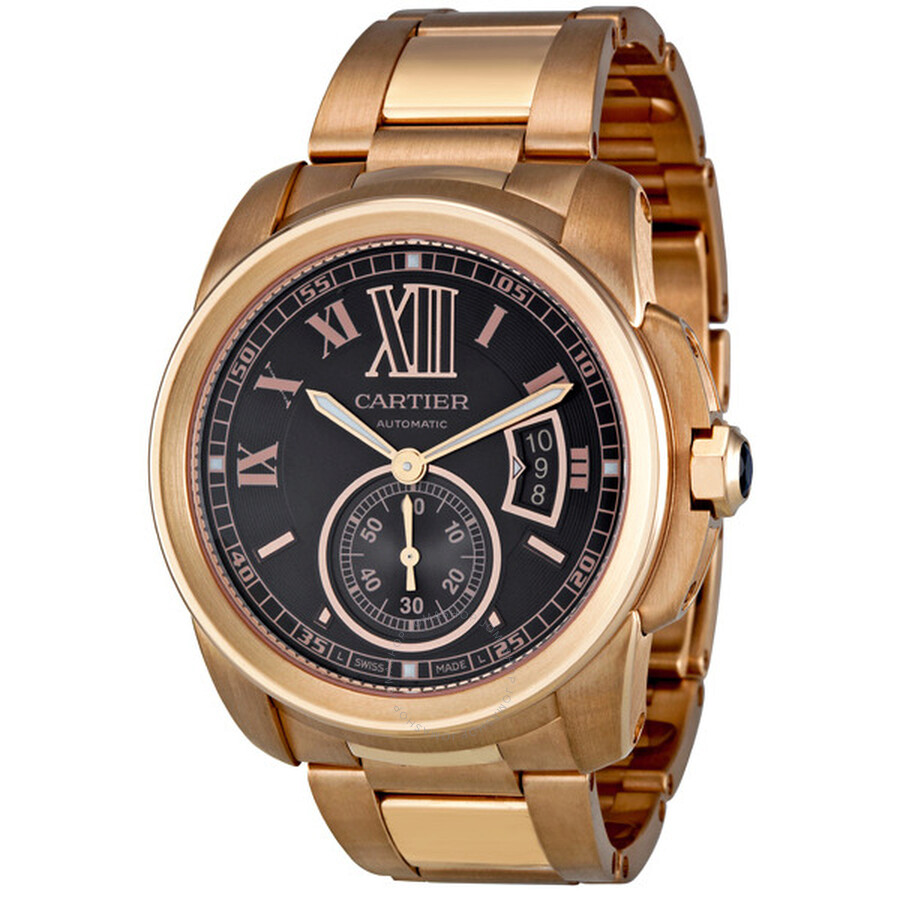 Cartier Gold Watch Mens 18kt Rose Gold Men's Watch