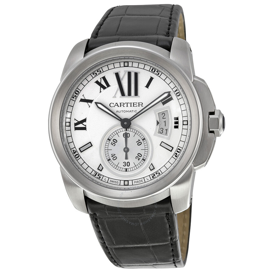 8b123877331 Cartier Calibre De Cartier Silver Dial Men s Watch W7100037 ...
