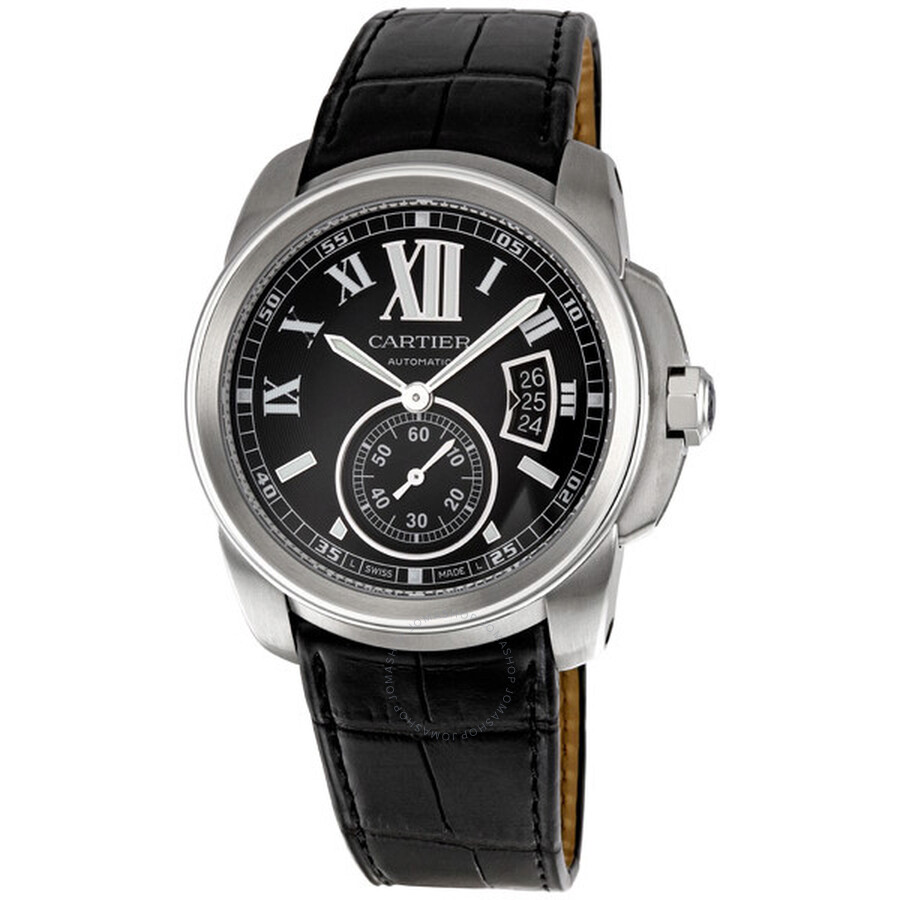 cartier calibre de cartier steel automatic men s watch w7100041