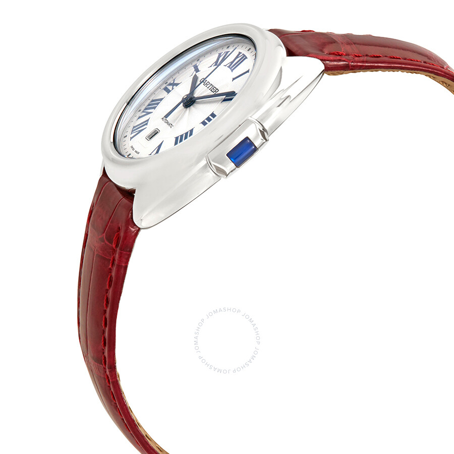 Cle de Cartier Automatic Silvered Dial Ladies Watch WSCL0016