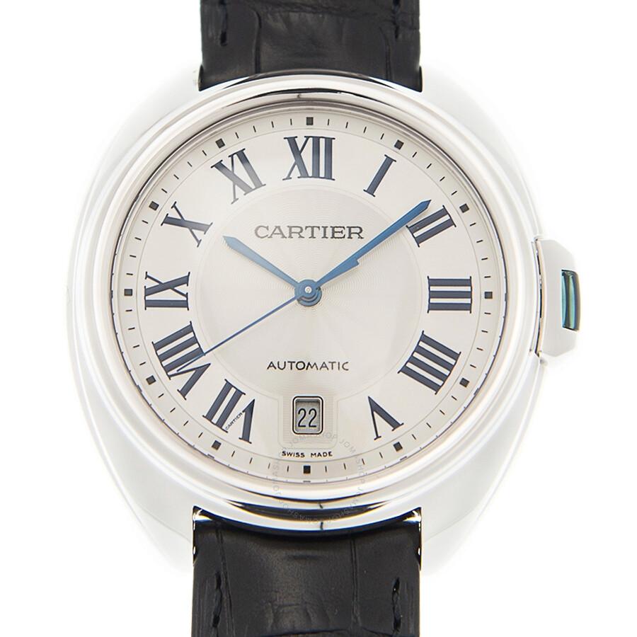cartier cl 233 silvered flinqu 233 steel s