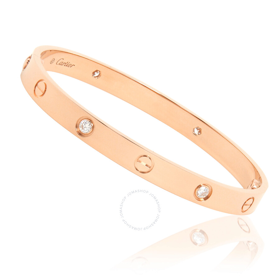 b0451dacd Cartier Love 18K Pink Gold Diamond Bracelet B6036018 - Ladies ...