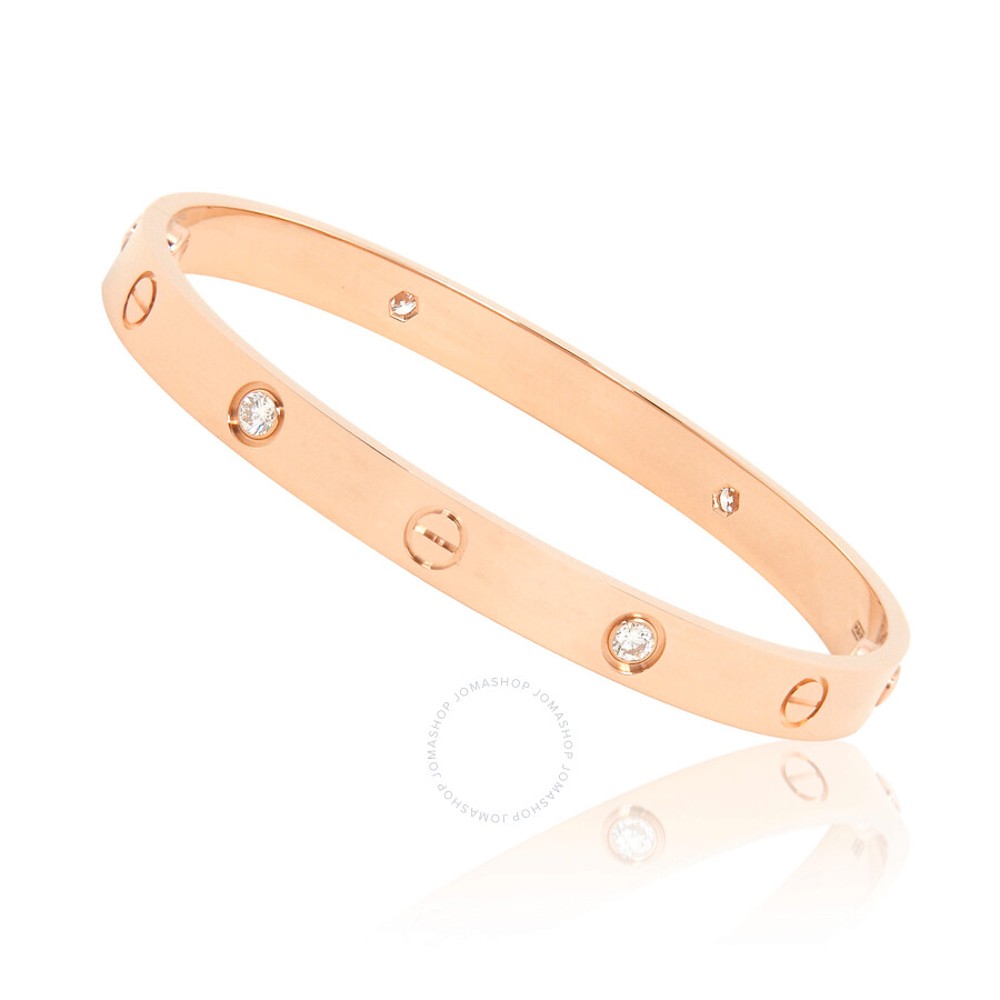 461355d33 Cartier Love 18K Pink Gold Diamond Bracelet B6036018 - Ladies ...