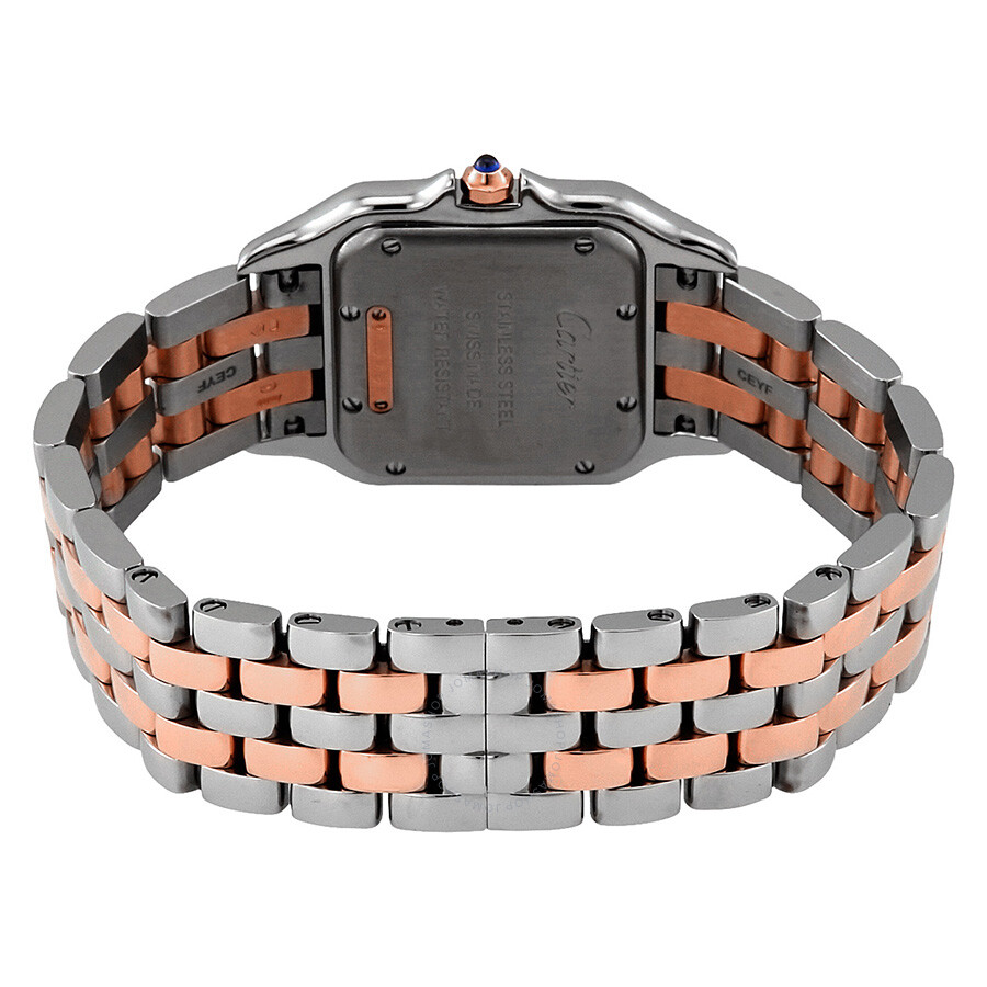 00710c3b69f7 ... Cartier Panthere Silver Dial Ladies Steel and 18kt Pink Gold Medium  Watch W3PN0007