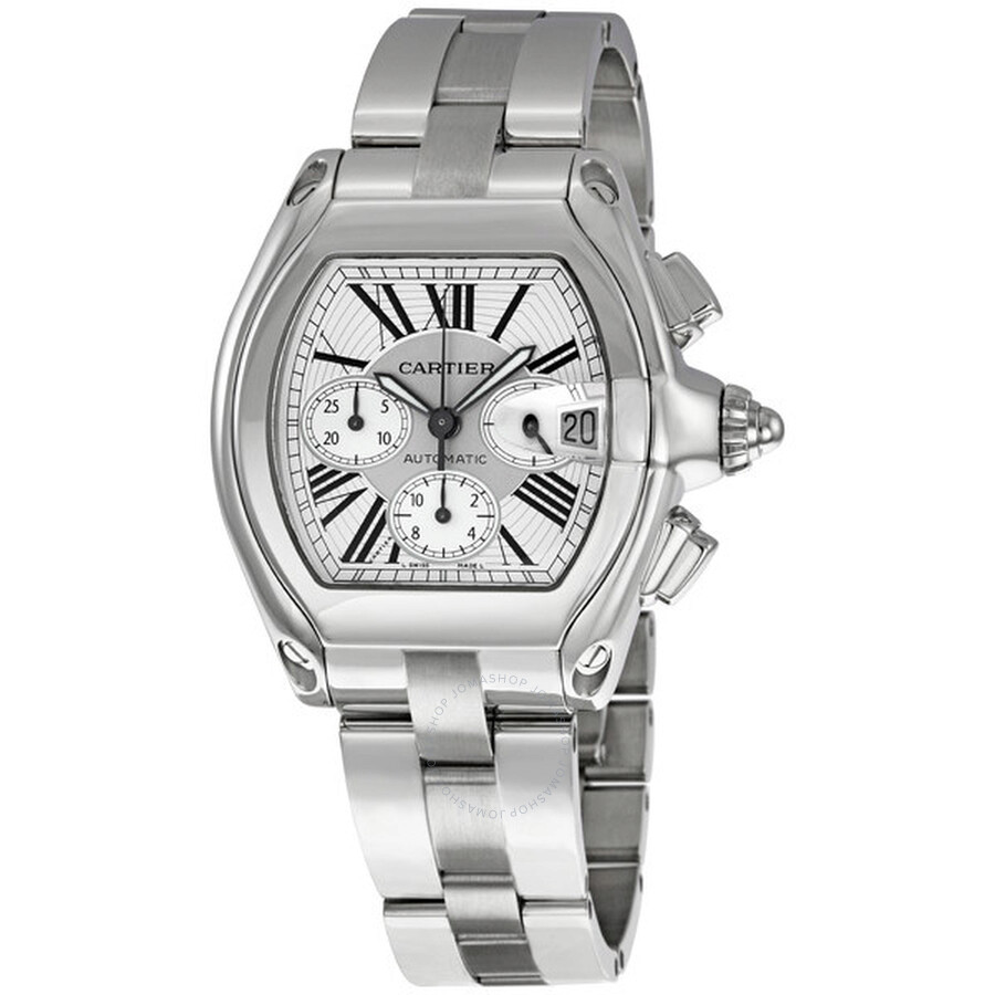 cartier roadster chronograph silver s