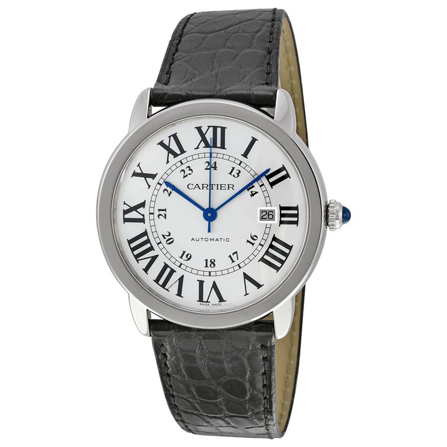 cartier ronde solo silver dial automatic men s watch w6701010