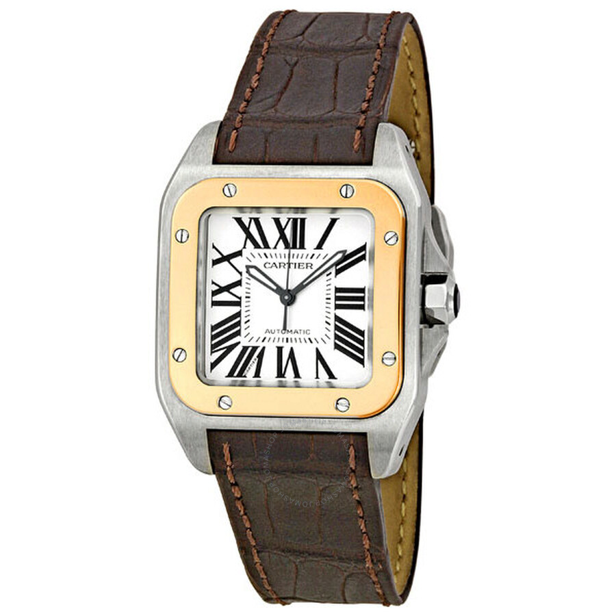 ec6e3e6dd46 Cartier Santos 100 18kt Rose Gold and Steel Midsize Watch
