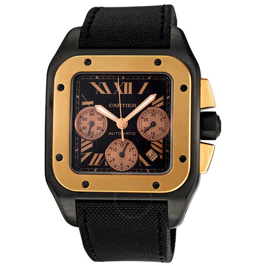 7c282997f43 Cartier Santos 100 Carbon Extra Large Men s Watch W2020004 - Santos ...
