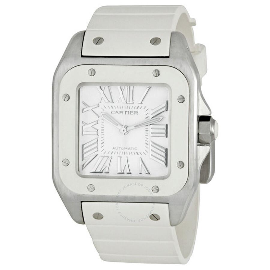 74174c0aef08 Cartier Santos 100 Medium Ladies Watch W20122U2 - Santos 100 ...
