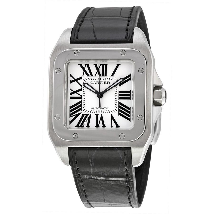 d7e9256d58ac Cartier Santos 100 Stainless Steel Medium Watch W20106X8 - Santos ...