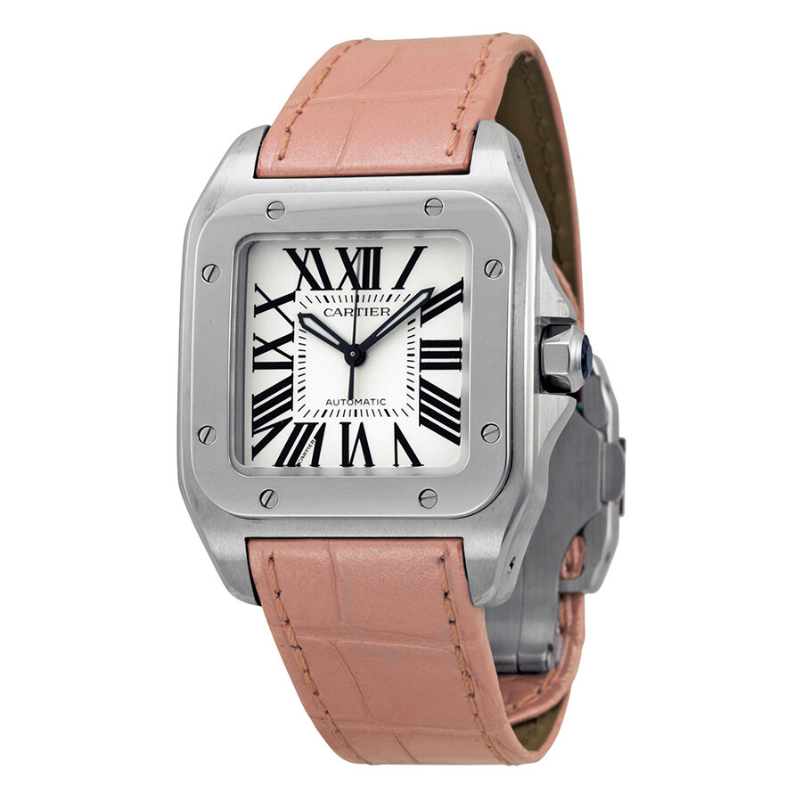 088b63f0f33 Cartier Santos 100 Silver Dial Unisex Watch W20126X8 - Santos 100 ...