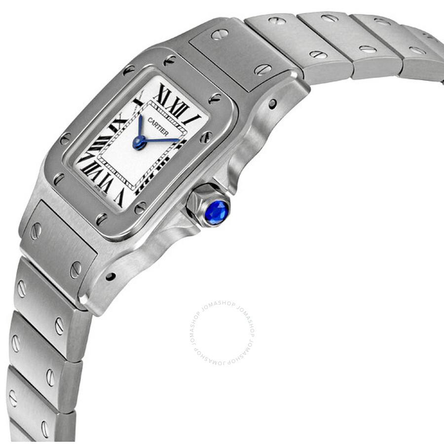 de0afc60b ... Cartier Santos de Cartier Guilloche Roman Dial Ladies Watch W20056D6 ...
