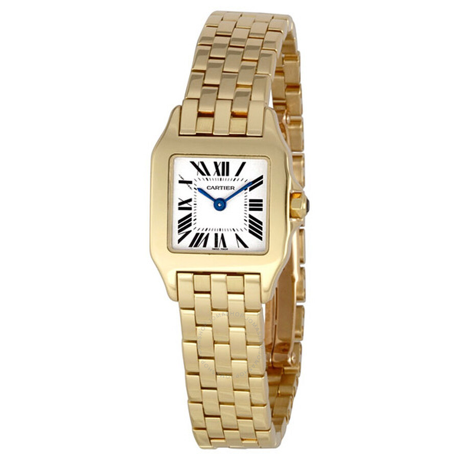 8eb9c2da23ac Cartier Santos Demoiselle 18k Yellow Gold Ladies Watch W25063X9 ...