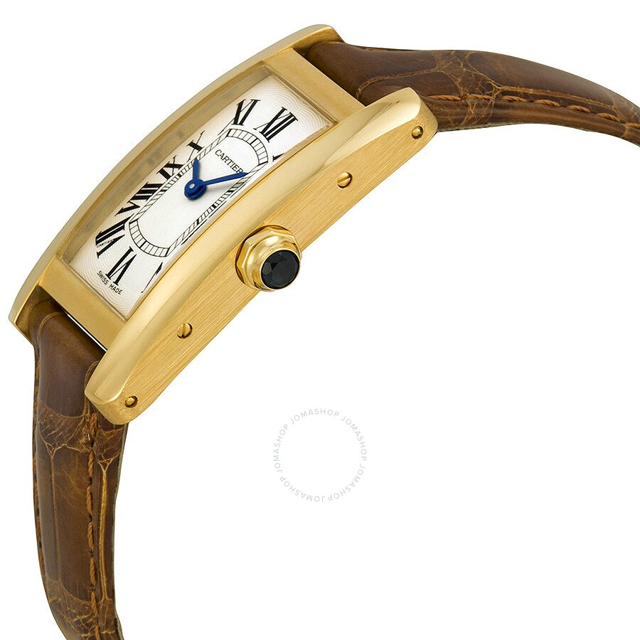 online store 5aef4 87d7b Cartier Tank Americaine 18kt Yellow Gold Ladies Watch W2601556