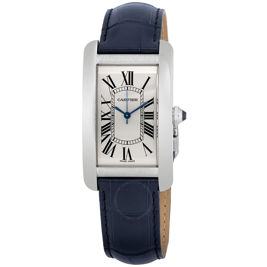 on watches essential medium gold silver watch with cartier strap main rose tank dial americaine size