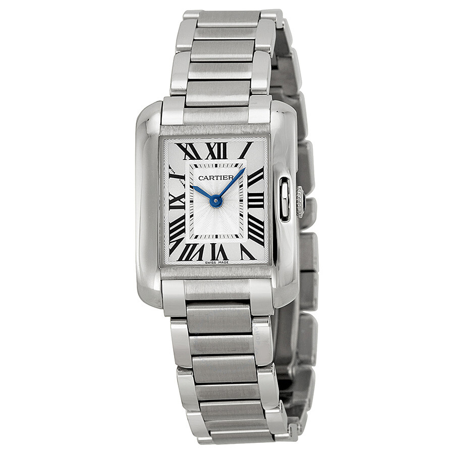cartier tank anglaise silver dial ladies watch w5310022 tank anglaise cartier watches. Black Bedroom Furniture Sets. Home Design Ideas