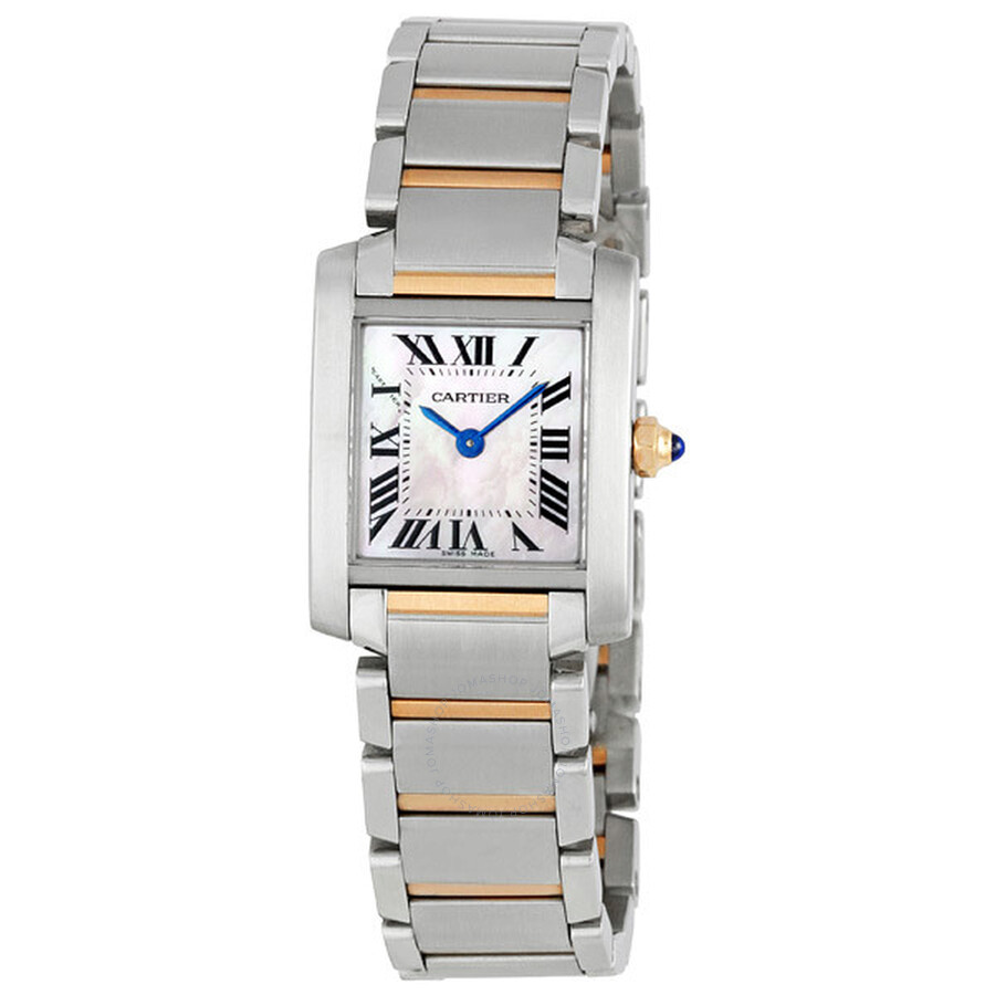 cd948acefaa5 Cartier Tank Francaise Pink Mother of Pearl Ladies Watch W51027Q4 ...