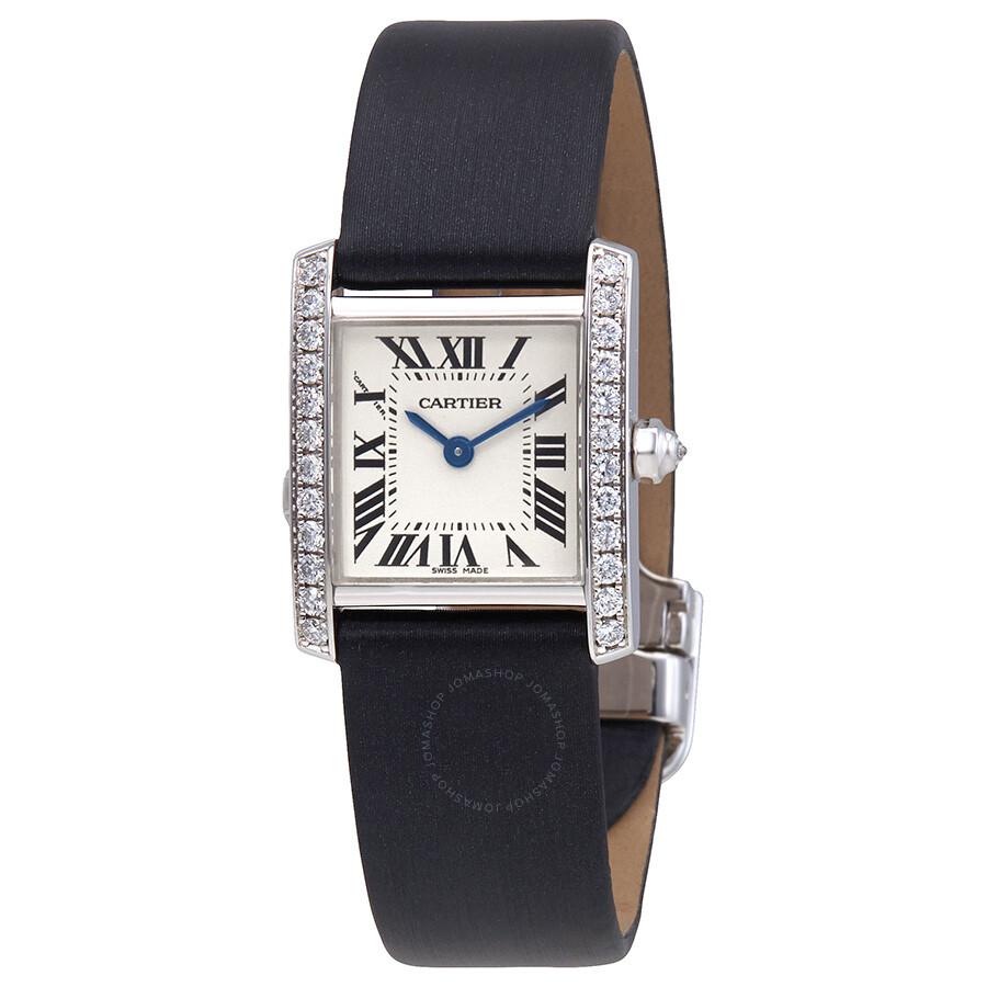 Cartier Tank Francaise 18kt White Gold Diamond Ladies ...