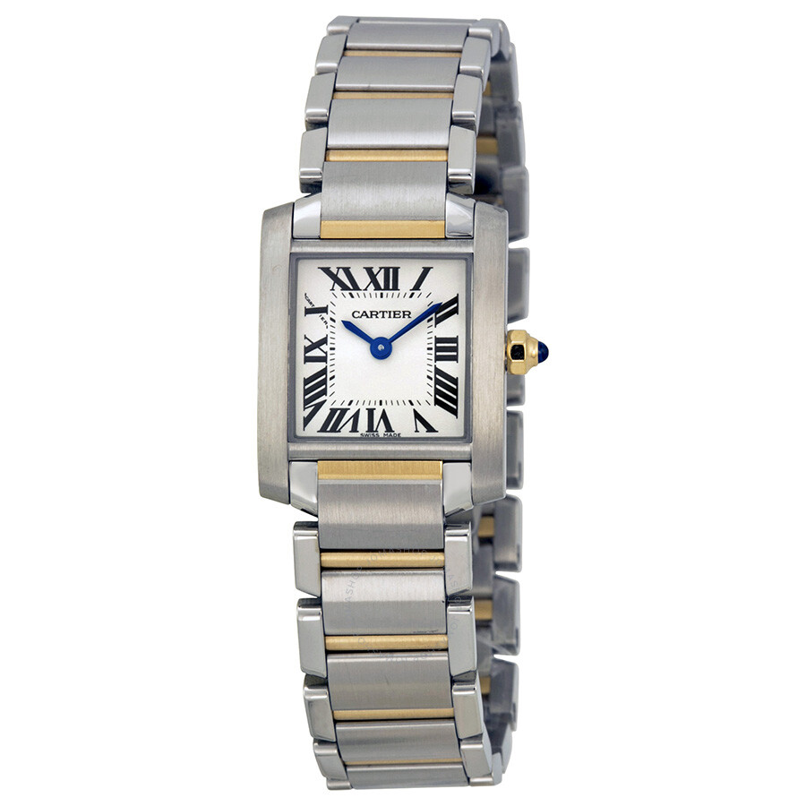 cartier tank francaise 18kt yellow gold and steel ladies watch w51007q4