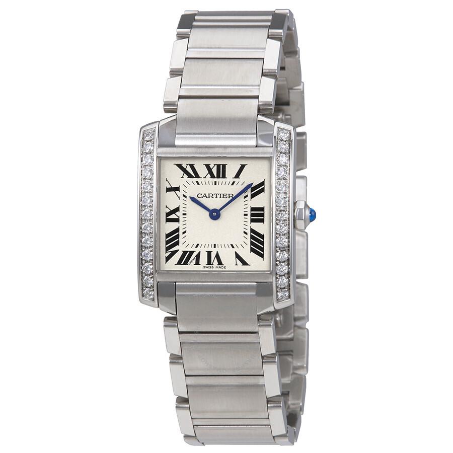 cbe31745680 Cartier Tank Francaise Silver Dial Ladies Watch W4TA0009 - Tank ...
