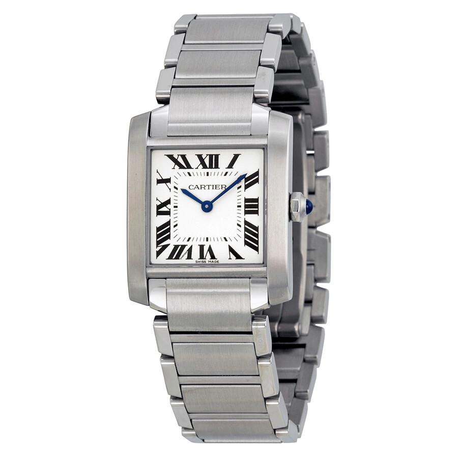 7ec502f5e73fa Cartier Tank Francaise Silver Dial Ladies Watch WSTA0005 - Tank ...