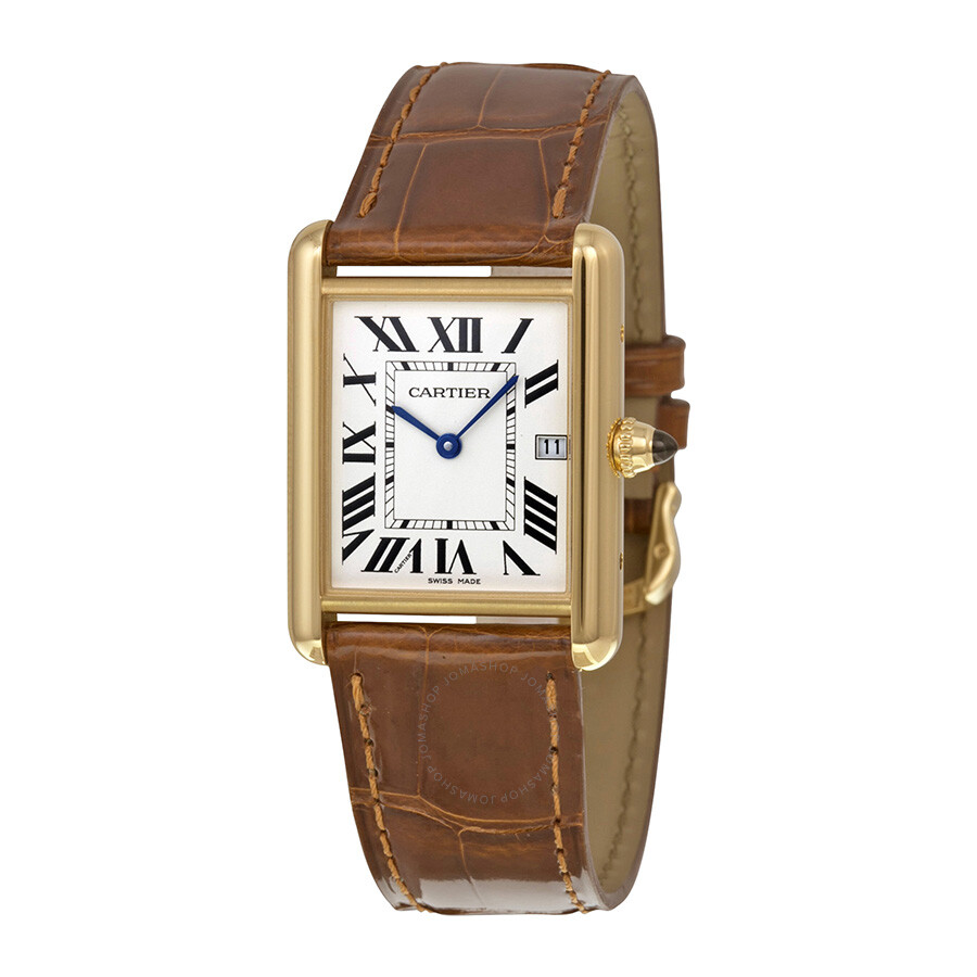cartier tank louis 18kt yellow gold men 39 s watch w1529756 tank louis cartier watches jomashop. Black Bedroom Furniture Sets. Home Design Ideas