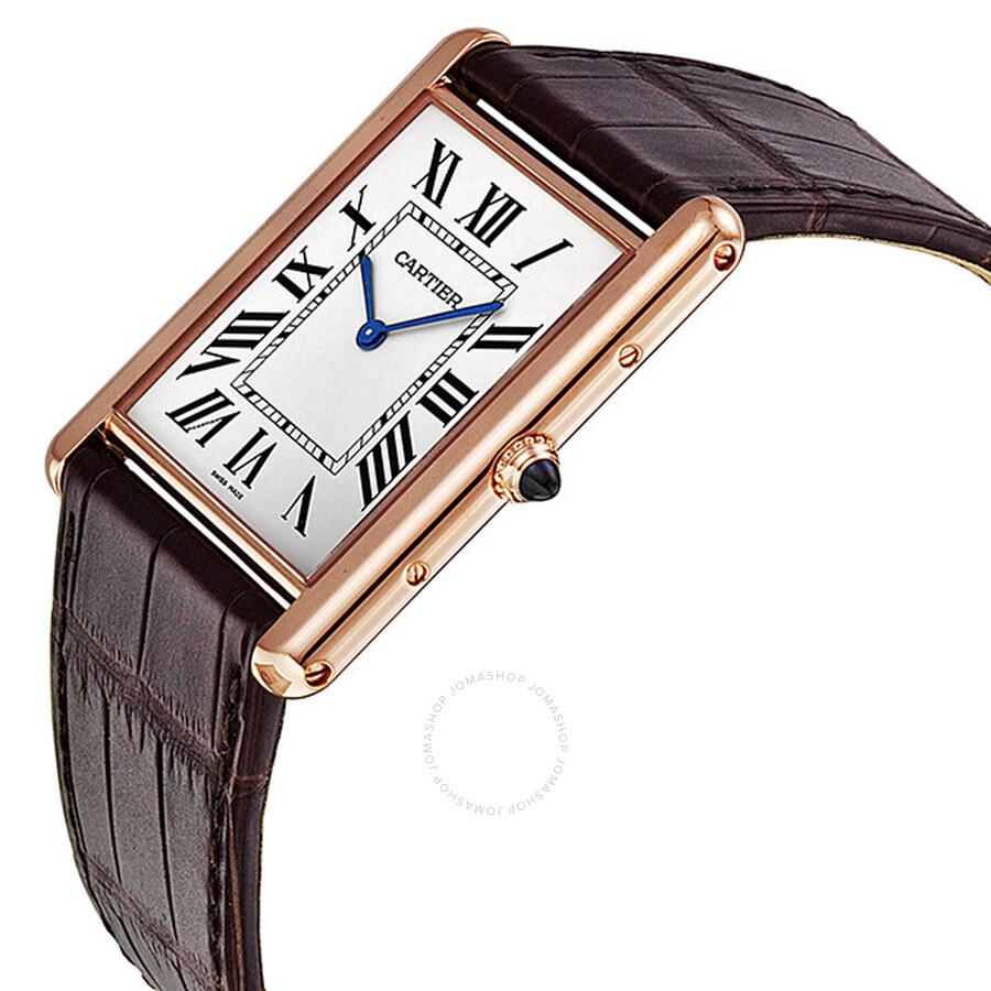 5cdc0b90ca21 ... Cartier Tank Louis Manual Wind 18kt Rose Gold Men s Watch W1560017 ...