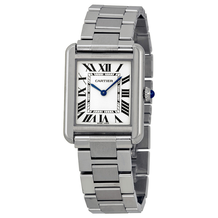 cartier tank solo small watch w5200013 tank solo cartier watches jomashop. Black Bedroom Furniture Sets. Home Design Ideas
