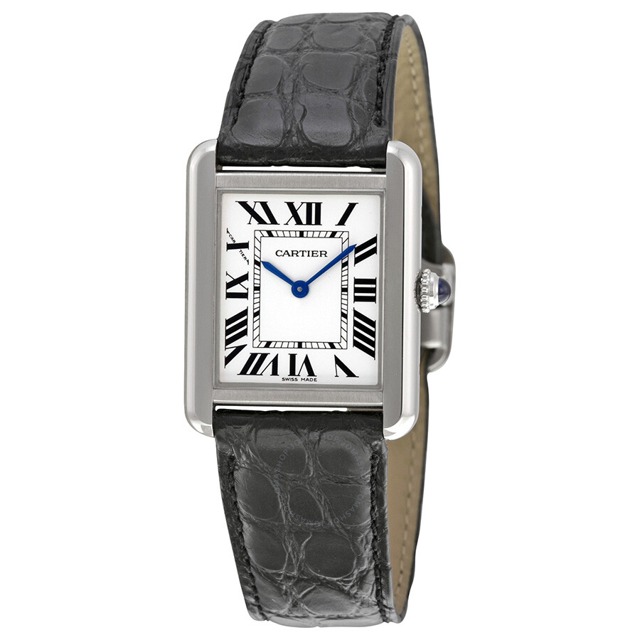 cartier tank solo steel small ladies watch w5200005 tank. Black Bedroom Furniture Sets. Home Design Ideas