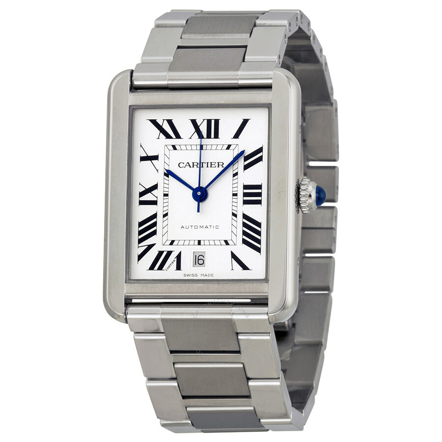 85dc07275d9 Cartier Tank Solo XL Automatic Silver Dial Men s Watch