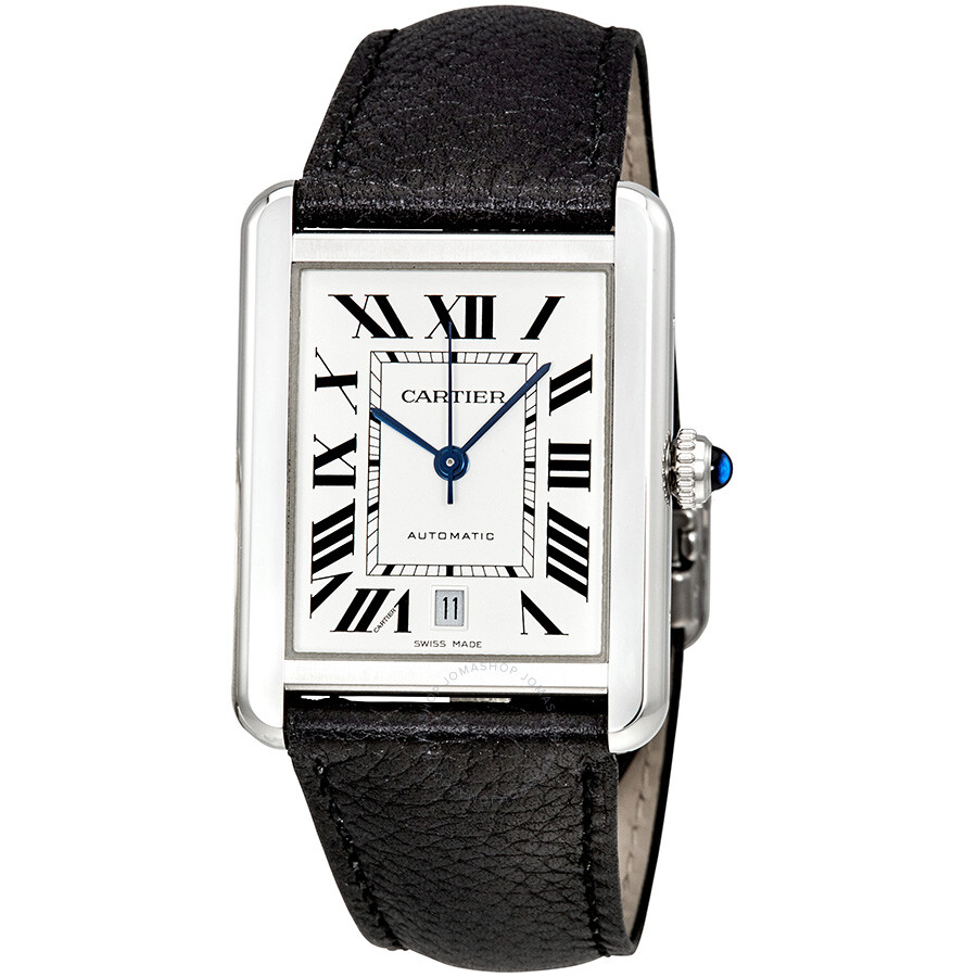 cartier tank solo xl automatic silver dial men 39 s watch wsta0029 tank solo cartier watches. Black Bedroom Furniture Sets. Home Design Ideas