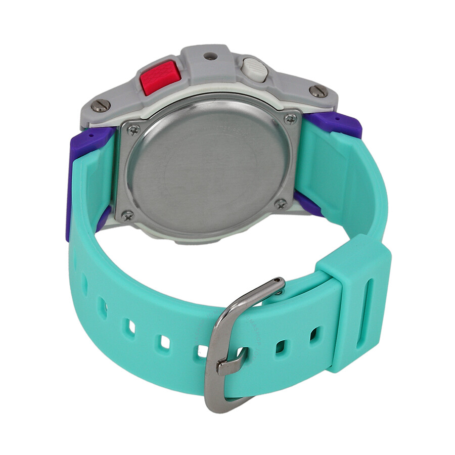 8e0e0462ceb ... Casio Baby G Analog Digital Dial Aqua Blue and Purple Resin Ladies Watch