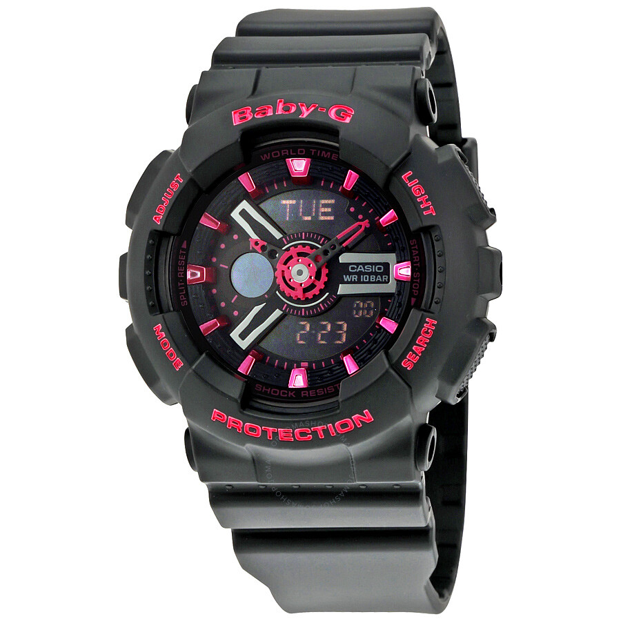 d85e079e49db Casio Baby-G Analog-Digital Display Black Dial Ladies Watch BA-111-1ACR  Item No. BA111-1ACR