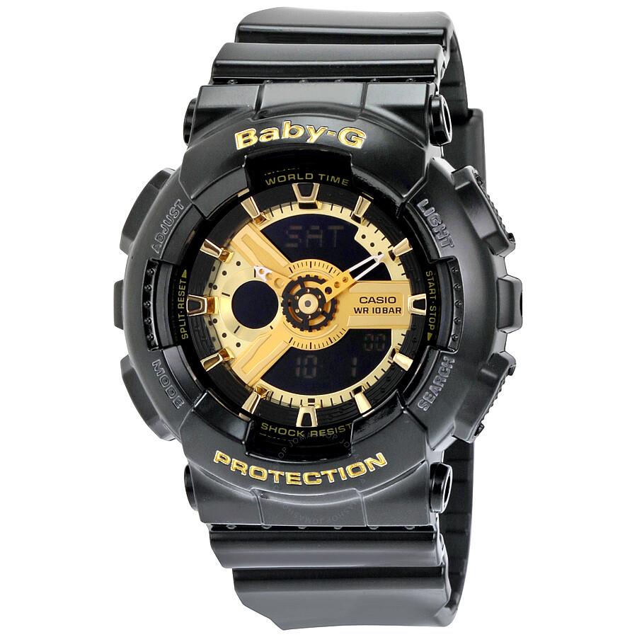 b840435b4b9d Casio Baby G Black Resin Ladies Watch BA110-1A - Baby-G - Casio ...
