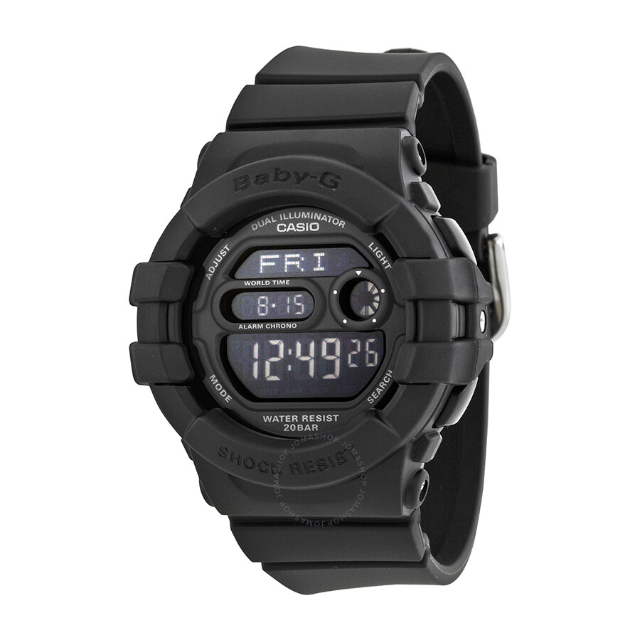fb3bfd8214d0 Casio Baby G Digital Dial Black Resin Ladies Watch BGD140-1ACR ...