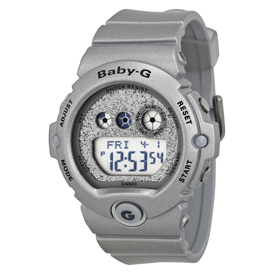 fd0a53fe9b3 Casio Baby G Digital Dial Silver Polyurethane Ladies Watch BG6900SG-8CR ...
