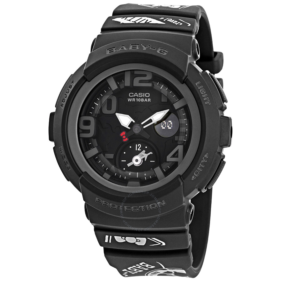 Casio Baby G Hello Kitty Alarm World Time Chronograph Black Dial