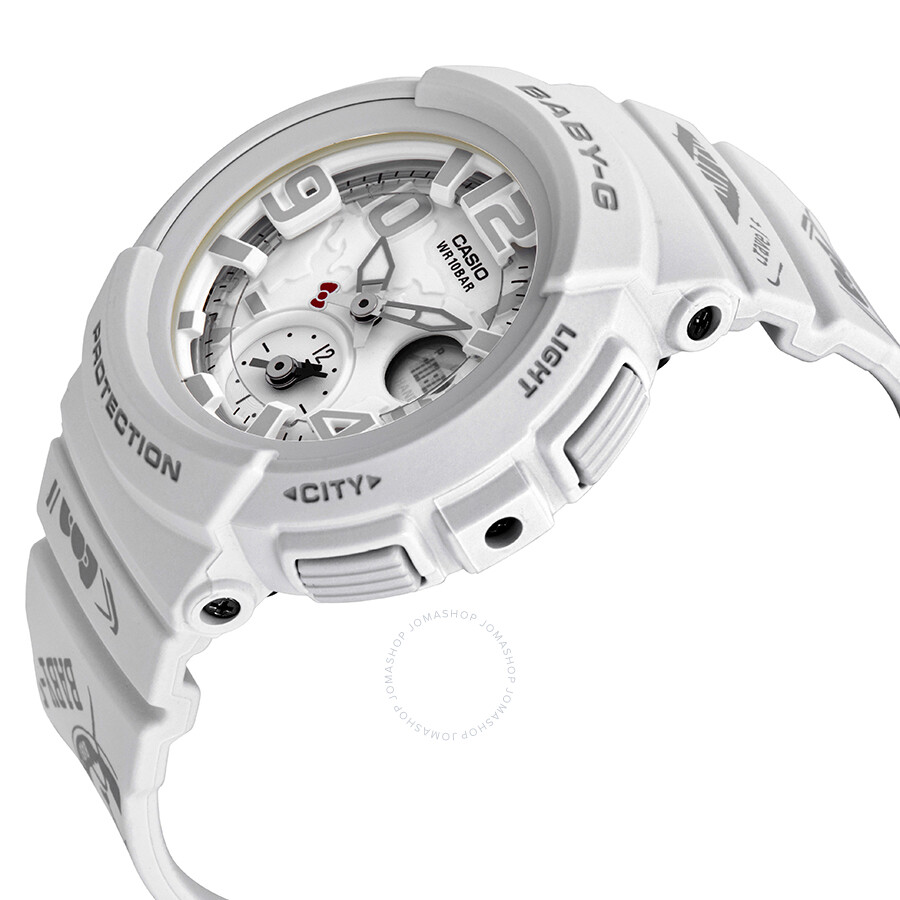Casio Baby G Hello Kitty Alarm World Time Chronograph White Dial