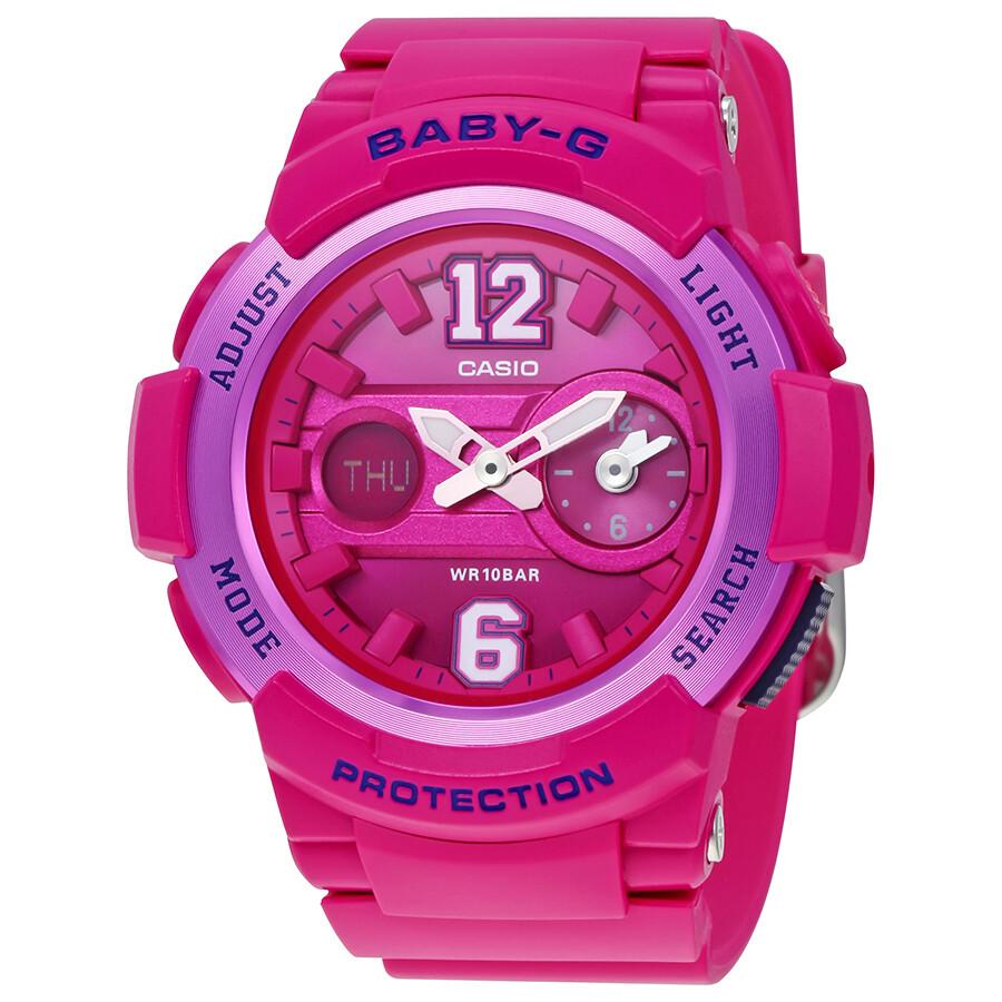4de53fcdb1a Casio Baby-G Ladies Hot Pink Multifunction Watch BGA-210-4B2 - Baby ...