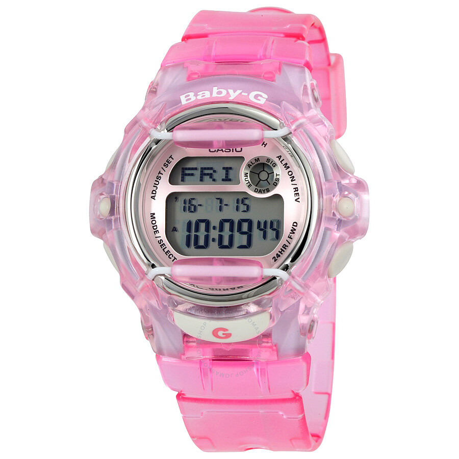 a3790c1b6 Casio Baby G Pink Resin Digital Ladies Watch BG169R-4 - Baby-G ...