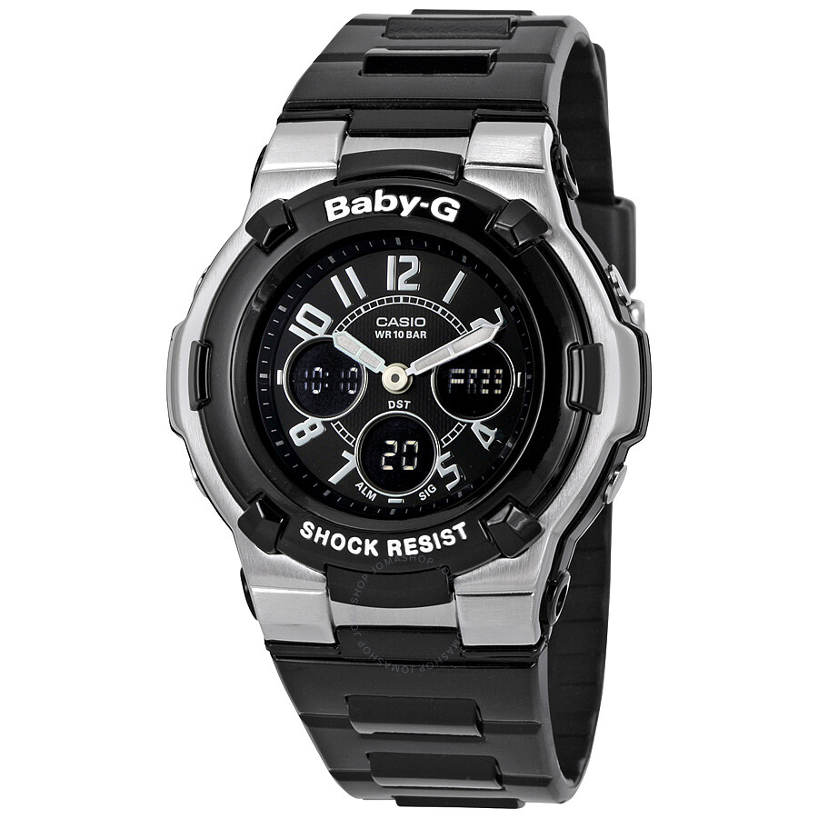 Casio baby g shock resistant black multi function sport ladies watch bga110 1b2 baby g casio for Watches g shock
